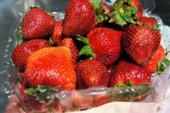 Ripe, naturally strawberries are perfect for a no-sugar dessert.